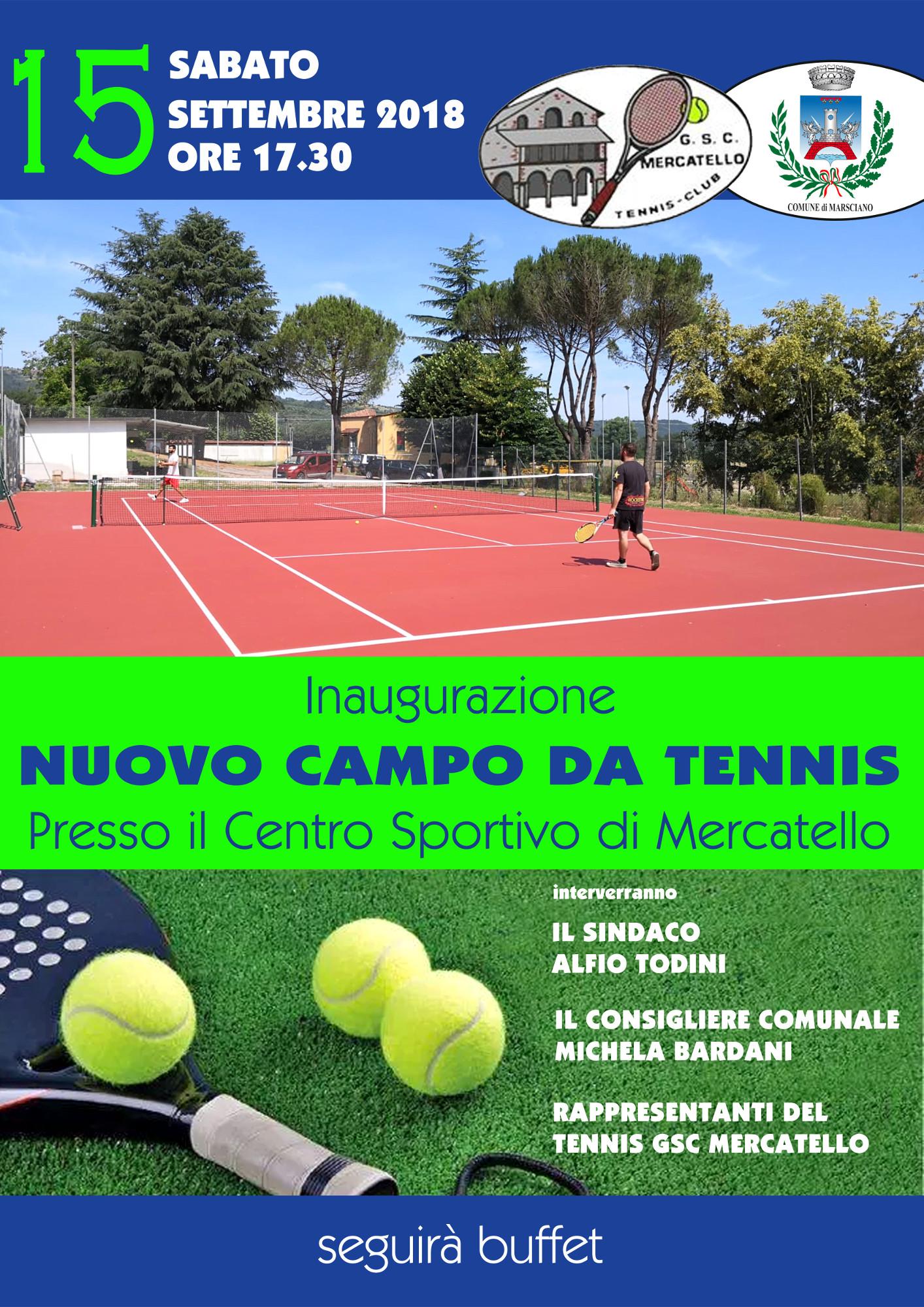 locandina campo da tennis Mercatello