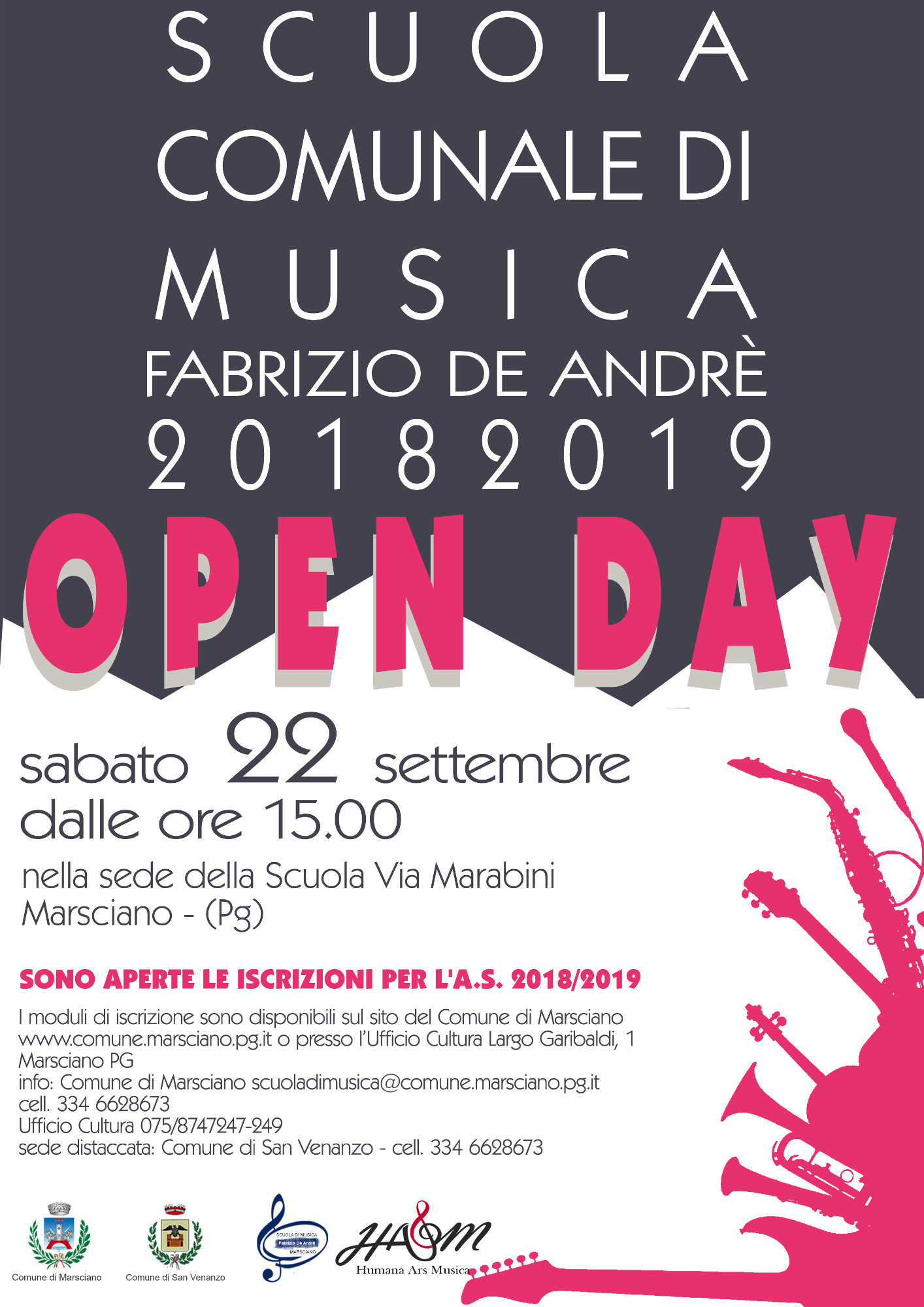 Locandina Open Day della Scuola comunale di Musica