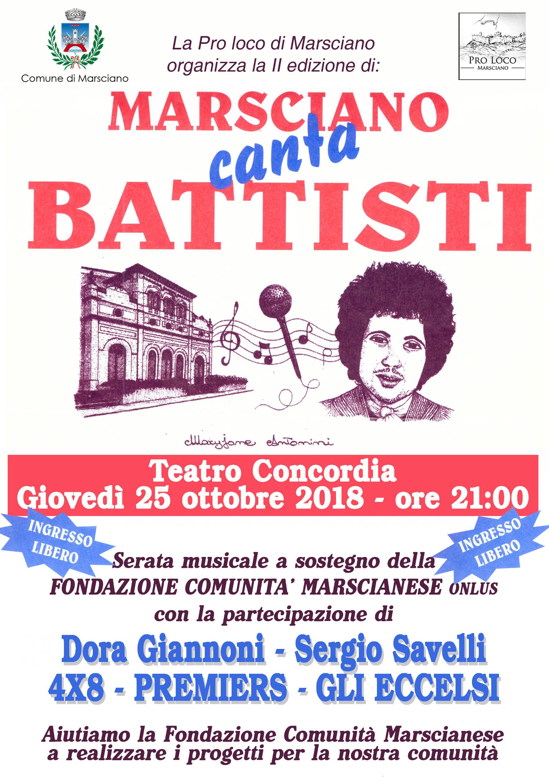 Locandina Marsciano canta Battisti