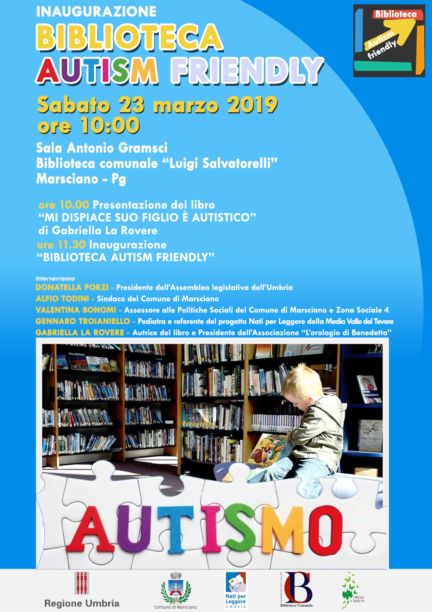 Locandina Biblioteca autism friendly